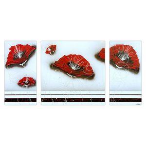 TABLEAU - TOILE FLOWER Tableau multi-panneaux Toile peinte 70x140