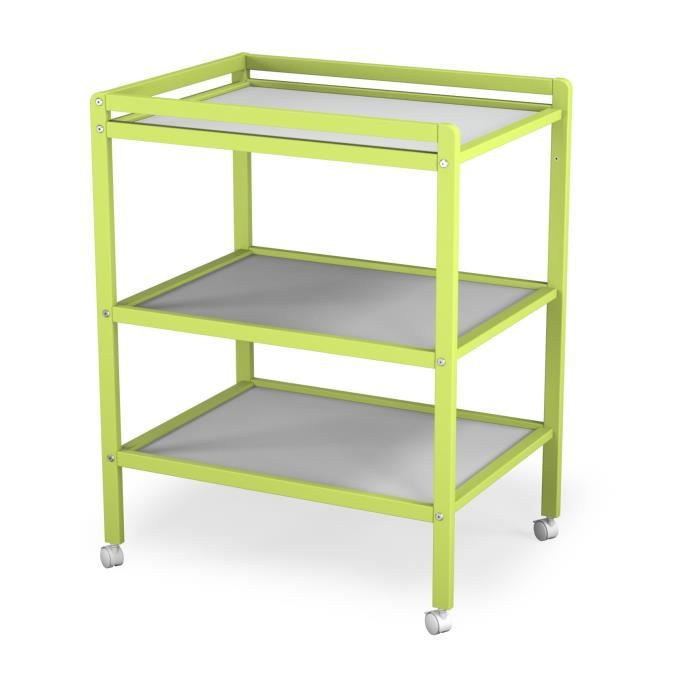 At4 table langer vert 2 tag res vert achat vente for Table a langer cdiscount