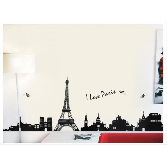 I Love Paris Tour Eiffel Amovible Stickers Muraux Parlor