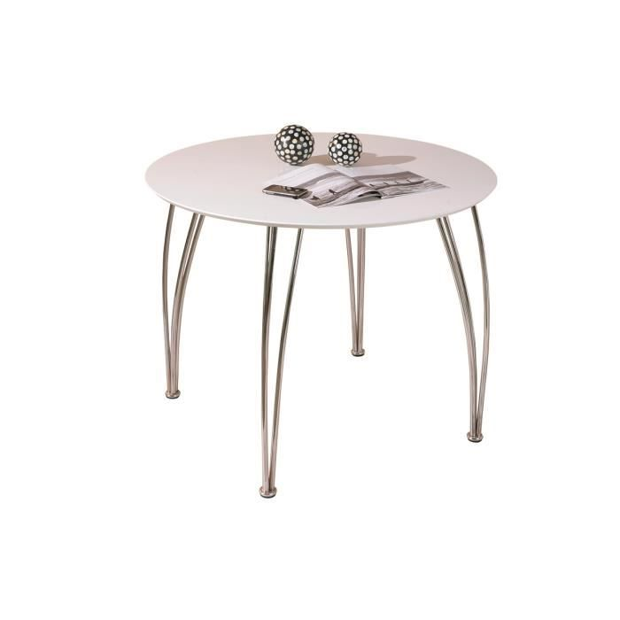 Austin table ronde blanche achat vente table for Table a manger ronde blanche