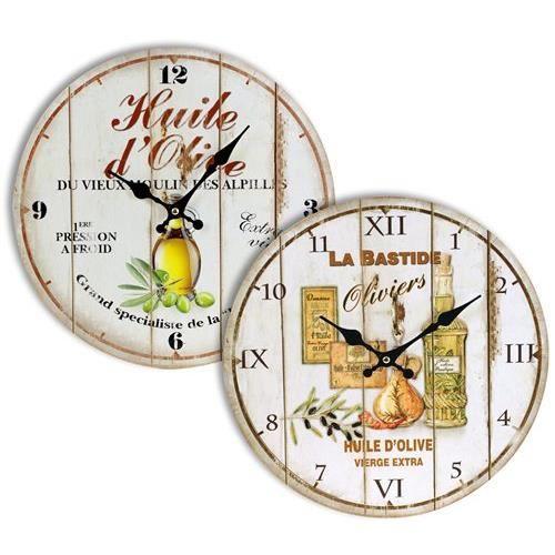 Horloge murale 34 cm olives 1 unit achat vente for Decoration unite murale