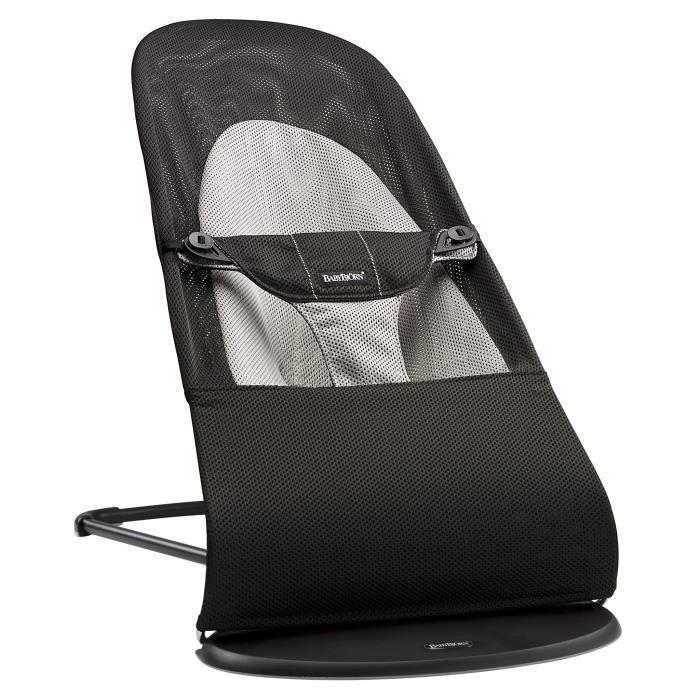 babybjorn transat balance soft mesh noir gris noir et gris achat vente transat balancelle. Black Bedroom Furniture Sets. Home Design Ideas