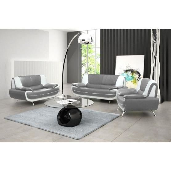 canape design gris et blanc