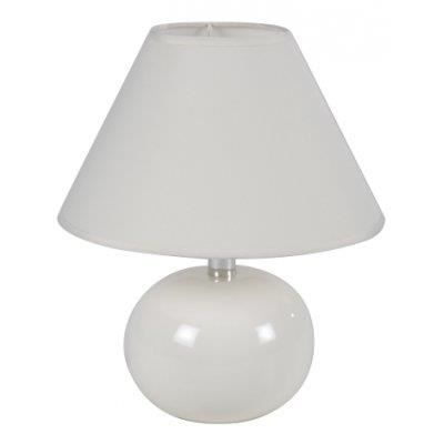 lampe pied boule couleur blanc achat vente lampe. Black Bedroom Furniture Sets. Home Design Ideas