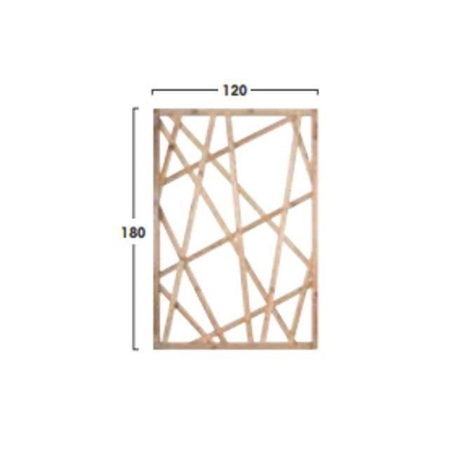 Treillage en bois fixer struktura achat vente - Treillage bois jardin ...