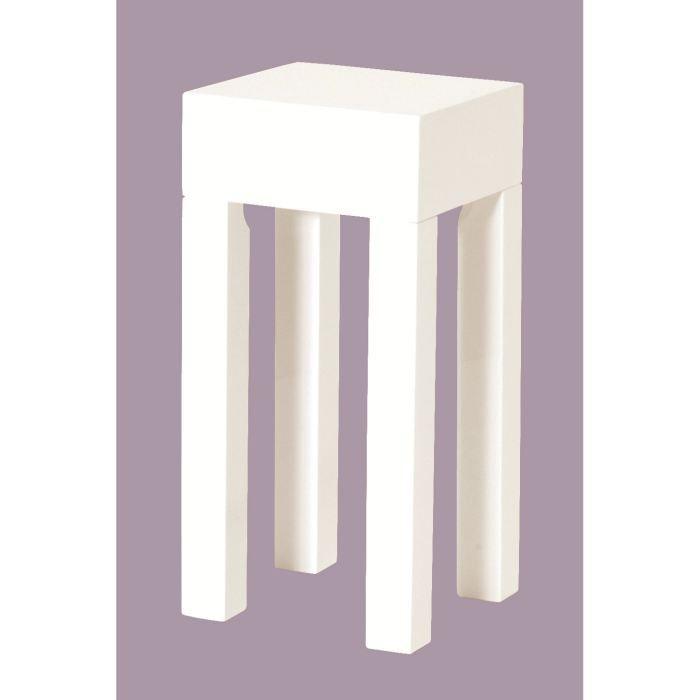 Table basse d 39 appoint casar en bois laque blanc - Support pour plantes d interieur ...