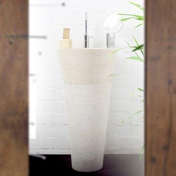 vasque sur pied en marbre koni white achat vente lavabo vasque vasque sur pied en marbre