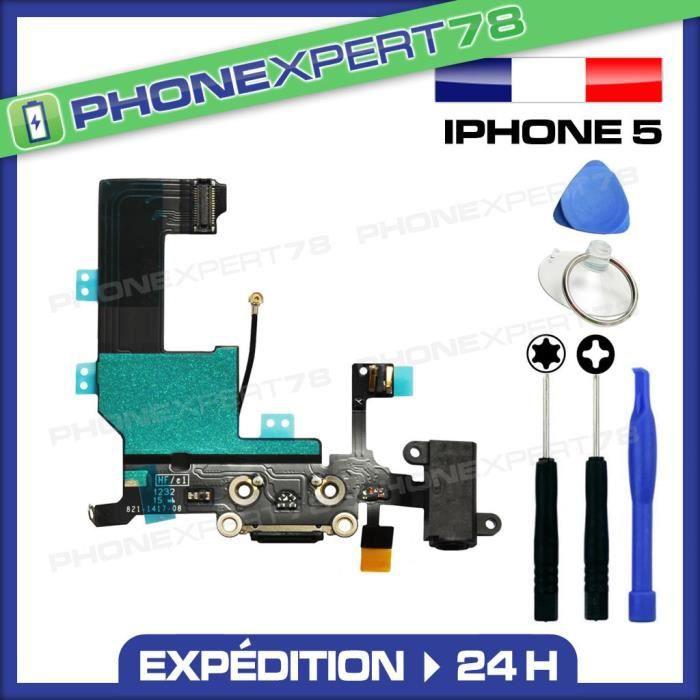 nappe dock iphone 5 noir connecteur de charge et achat pi 232 ce t 233 l 233 phone pas cher avis et