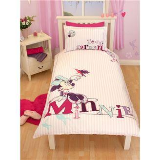 minnie mouse parure couette 1 perso lit de 90cm achat vente parure de couette cdiscount. Black Bedroom Furniture Sets. Home Design Ideas