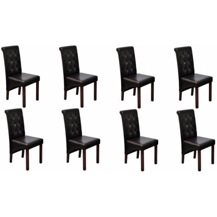 8 chaises de salle a manger marron 1902310 achat vente for 8 chaises salle a manger