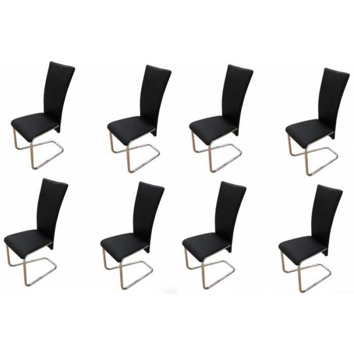 8 chaises de salle a manger noires 1902306 achat vente for 8 chaises salle a manger
