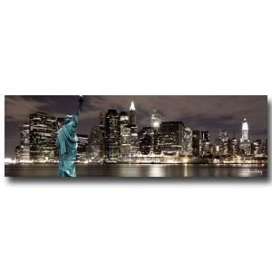 Tableau new york city by night achat vente tableau toile toile coton - Tableau led new york ...