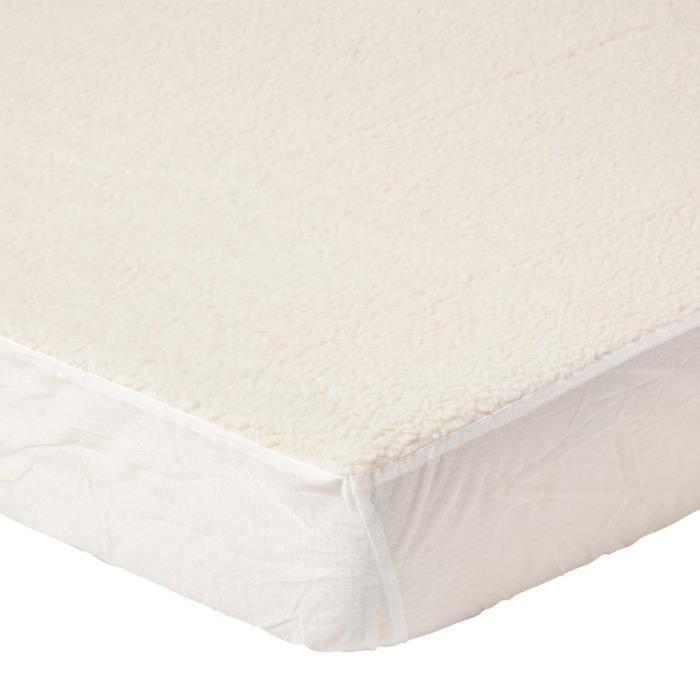 Sous couverture en laine polaire matelass 120 x 190 cm for Couverture jetable en laine polaire ikea