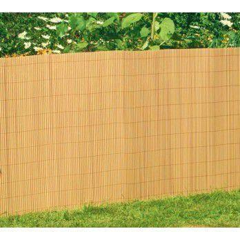 Canisses Double Face Couleur Bambou H120 X 600cm Achat