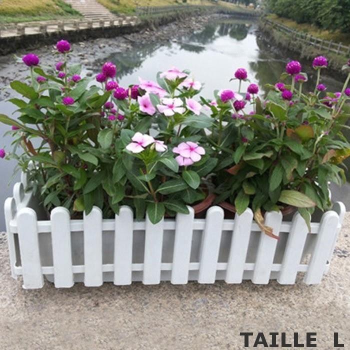 pot de fleur blanc style cl ture jardini re pot de. Black Bedroom Furniture Sets. Home Design Ideas
