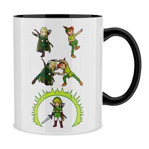 BOL - MUG - MAZAGRAN Mug Parodie de Zelda, Peter Pan et le Seigneur des