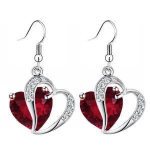 Boucle d oreilles swarovski coeur rouge achat vente - Boucle d oreille swarovski pas cher ...