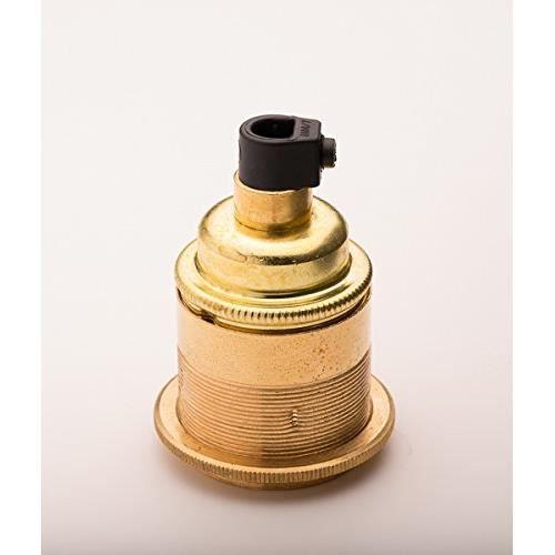 douille pour ampoule e27 vis laiton poli achat vente ampoule led cdiscount. Black Bedroom Furniture Sets. Home Design Ideas