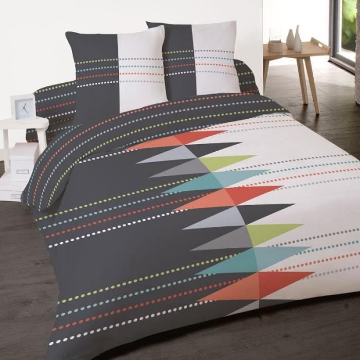 housse de couette avec rabat pied 220x240 achat vente housse de couette avec rabat pied. Black Bedroom Furniture Sets. Home Design Ideas