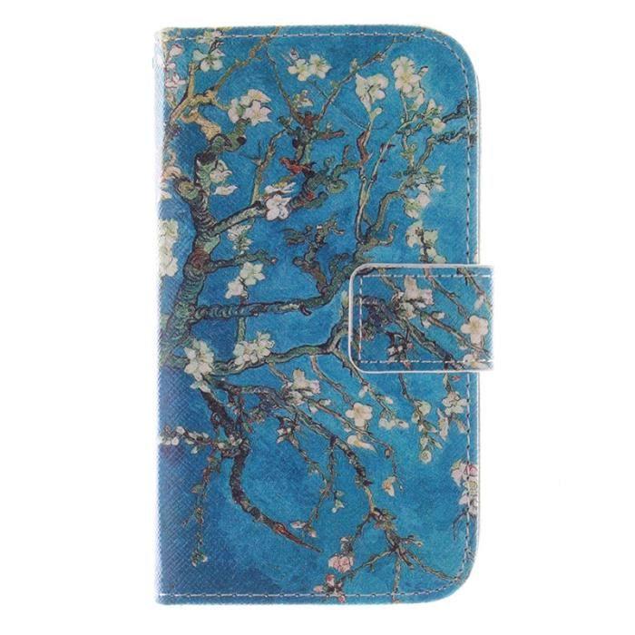bleu arbre fleurs style luxury housse pour lg optimus l70 d325 d320 portefeuille pu cuir etui. Black Bedroom Furniture Sets. Home Design Ideas