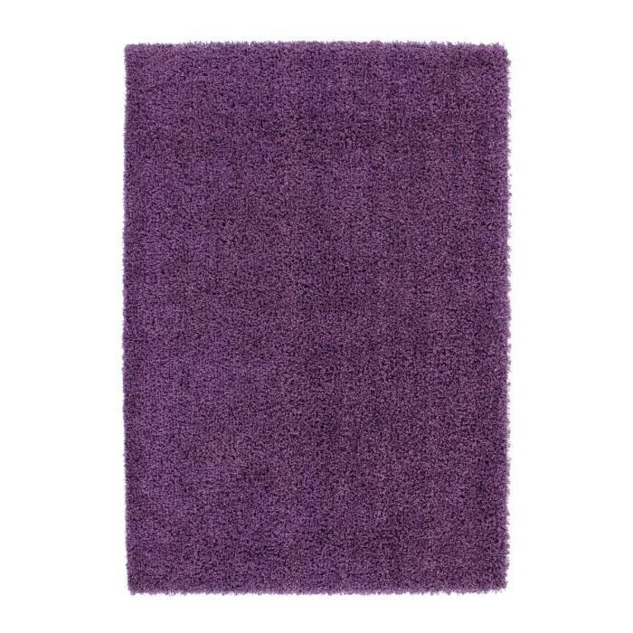 tapis de salon violet shaggy 50 mm moderne dessin 120x120. Black Bedroom Furniture Sets. Home Design Ideas