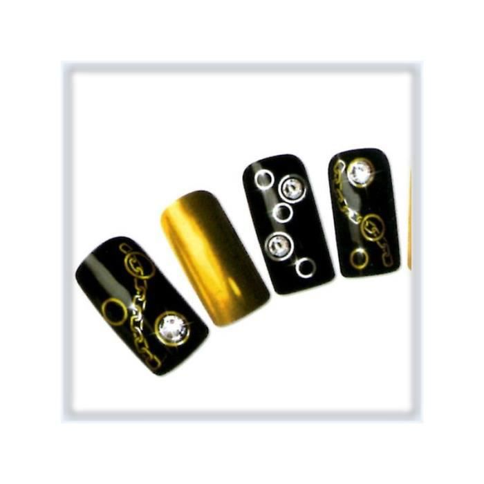 water decal pour ongles chaine argent t331 achat vente stickers strass water decal pour. Black Bedroom Furniture Sets. Home Design Ideas