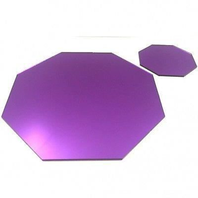 8 pourpre napperons miroir octogone et sous verres achat for Miroir acrylique incassable