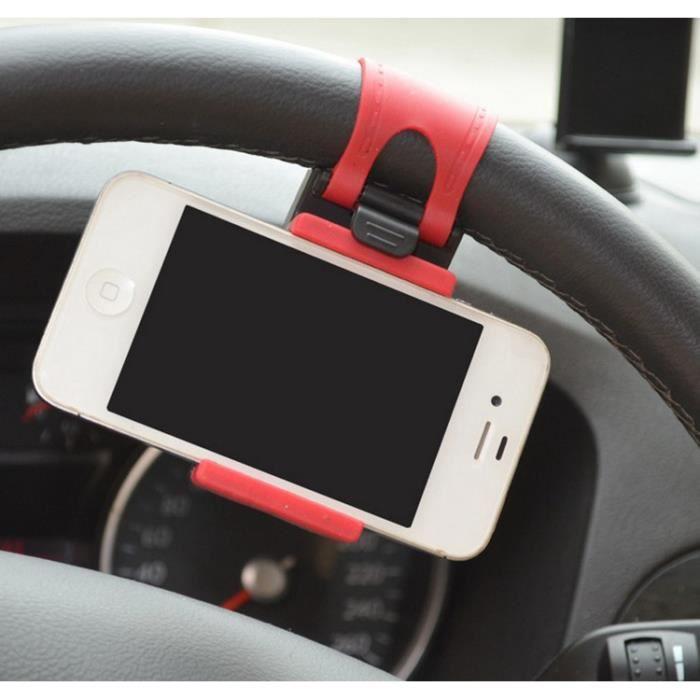 volant de voiture support de t l phone mobile pour iphone 6 android phone achat t l phone fixe. Black Bedroom Furniture Sets. Home Design Ideas