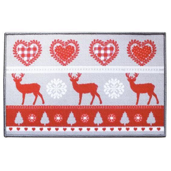 tapis de cuisine 80 cm montagne rouge achat vente