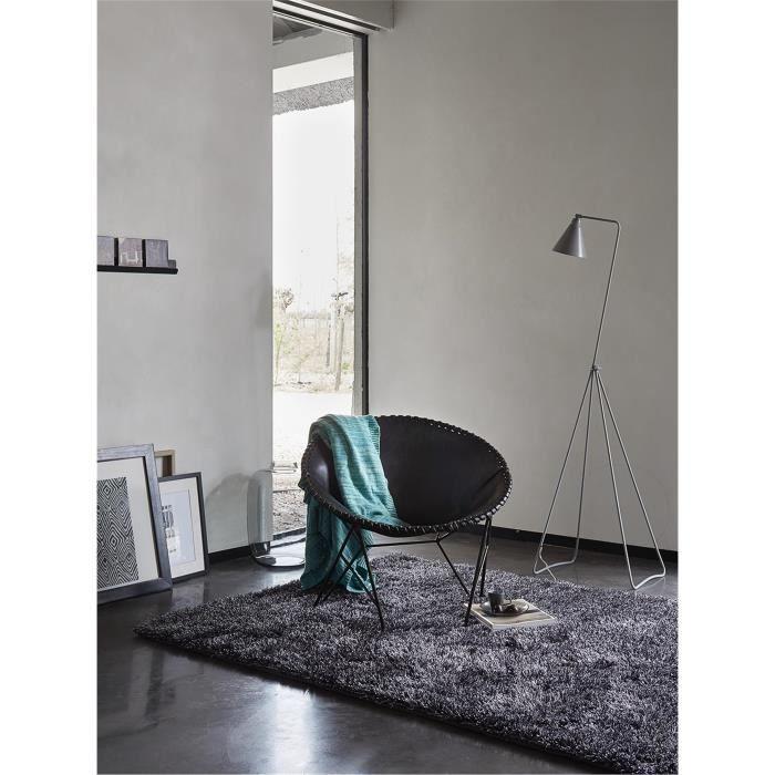 Esprit tapis poils longs new glamour noir 140x200 cm for A poil a la maison