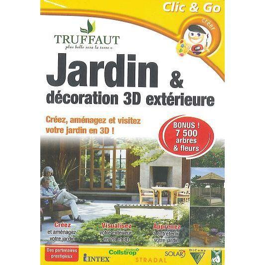 Jardin et d coration 3d ext rieure dvd rom prix pas for Logiciel decoration exterieure jardin