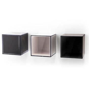 cube pixel 10 x 10 cm noir transparent achat vente boite de rangement cdiscount. Black Bedroom Furniture Sets. Home Design Ideas