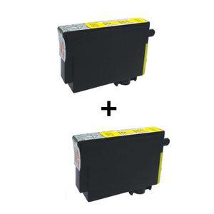 2 cartouches compatibles Epson T1284 Jaune