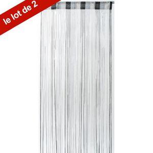 rideaux a fil gris achat vente rideaux a fil gris pas cher soldes cdiscount. Black Bedroom Furniture Sets. Home Design Ideas