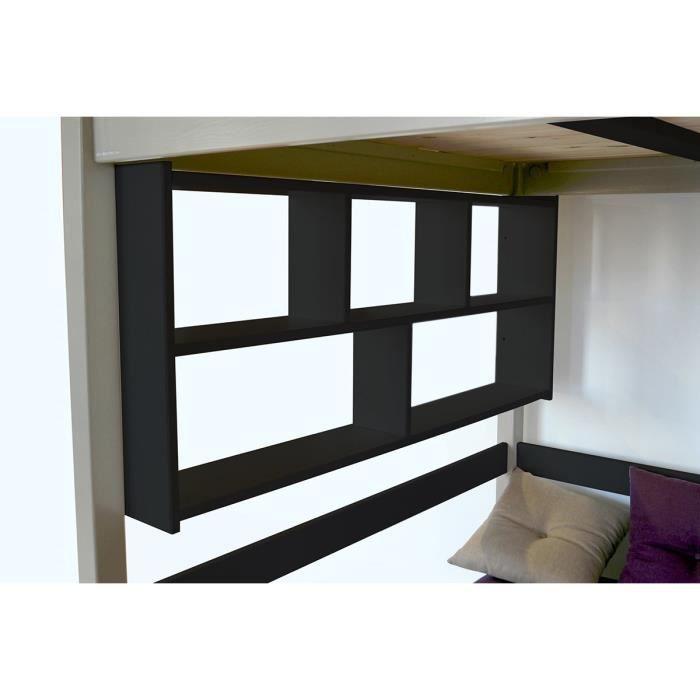 Tag re murale teint noir longueur 200 achat vente etag re murale t - Cdiscount etagere murale ...