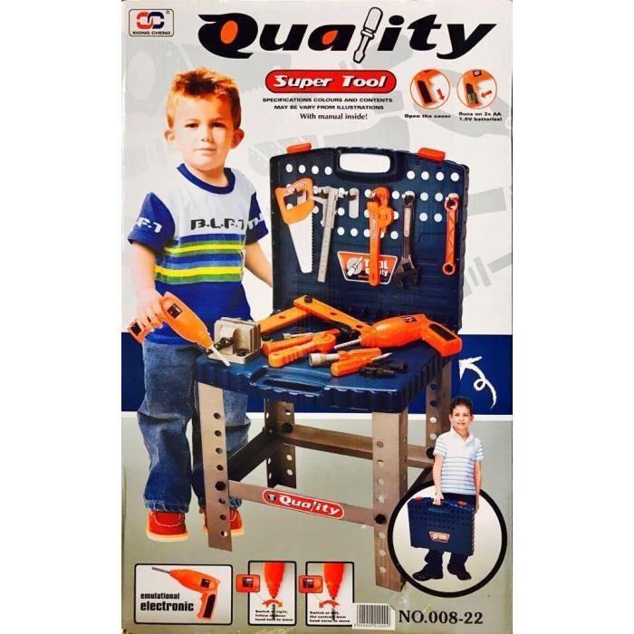 enfants ensemble jouets outil de bricolage set achat. Black Bedroom Furniture Sets. Home Design Ideas