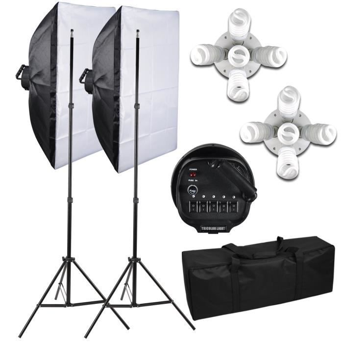 kit photo studio 2 softbox 2250w eclairage continu studio tr pied lighting achat vente. Black Bedroom Furniture Sets. Home Design Ideas