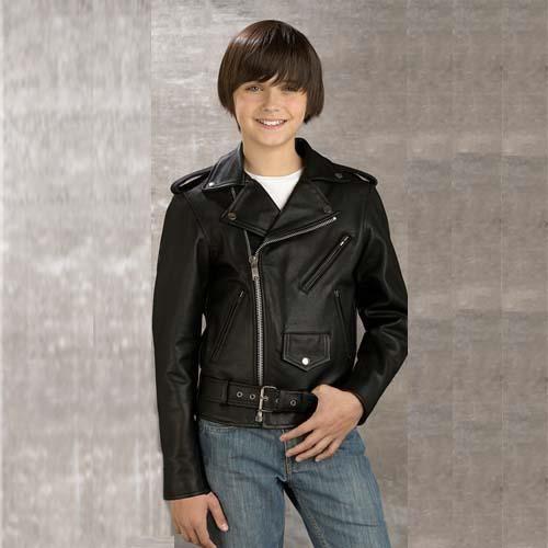 blouson biker perfecto cuir noir enfants 8 ans achat vente blouson veste blouson biker. Black Bedroom Furniture Sets. Home Design Ideas