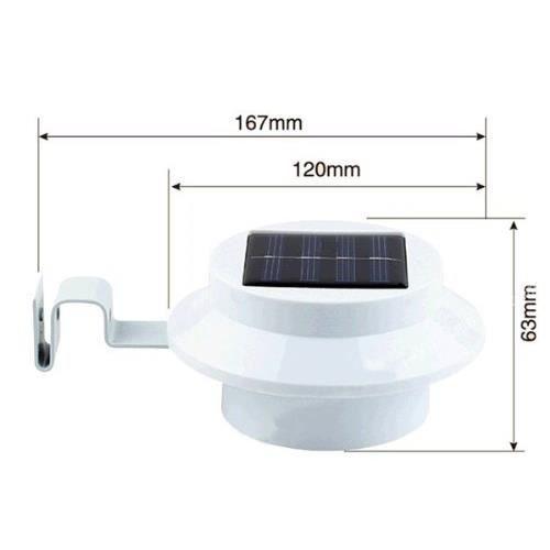 Lampe solaire 3 led pour jardin goutti re cl ture achat for Lampe solaire pour portail