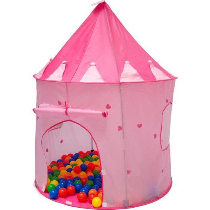 Tente de jeu maison jouet ch teau rose princesse shanti for Maison jouet exterieur