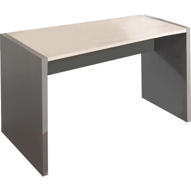 bureau 120 cm en bois coloris gris et ch ne clair achat. Black Bedroom Furniture Sets. Home Design Ideas