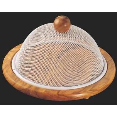 plateau de fromage rond en bois avec cloche en achat vente plateau fromage cdiscount. Black Bedroom Furniture Sets. Home Design Ideas