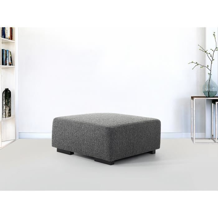 ottoman pouf pour canap en tissu gris fonc lungo achat vente pouf poire cdiscount. Black Bedroom Furniture Sets. Home Design Ideas