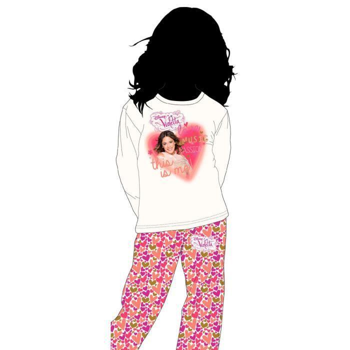 Violetta pyjama long pour fille 8 ans achat vente - Jeux de fille de violetta ...