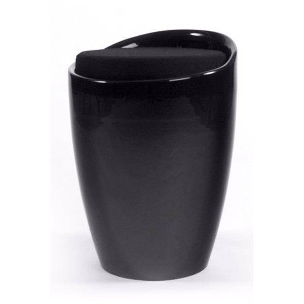 tabouret bas design travis noir achat vente tabouret. Black Bedroom Furniture Sets. Home Design Ideas