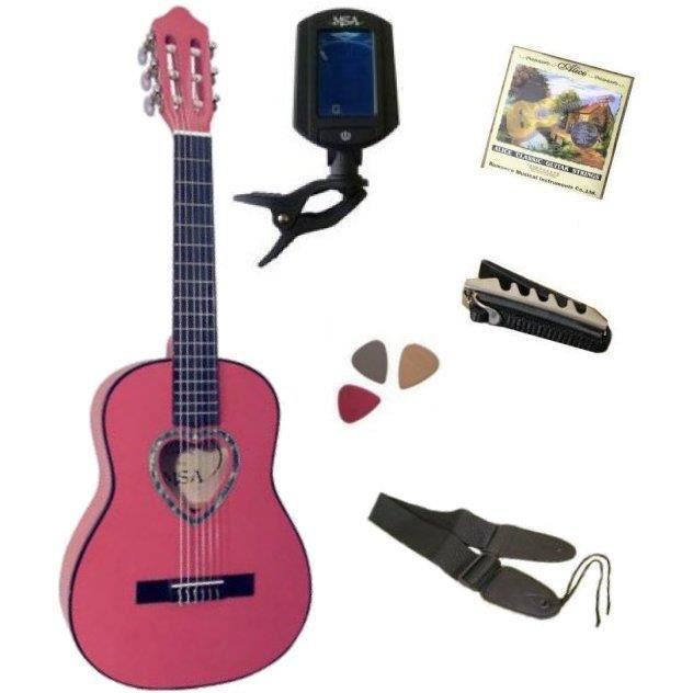 guitare rose enfant achat vente jeux et jouets pas chers. Black Bedroom Furniture Sets. Home Design Ideas