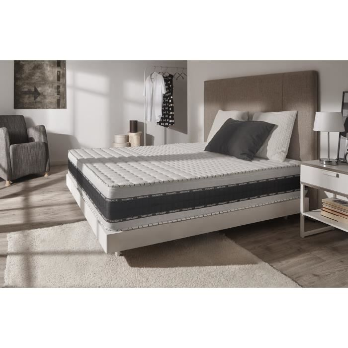 matelas luxe memory 25 cm 180x200 blue latex 7 zones mousse m moire confort achat vente. Black Bedroom Furniture Sets. Home Design Ideas