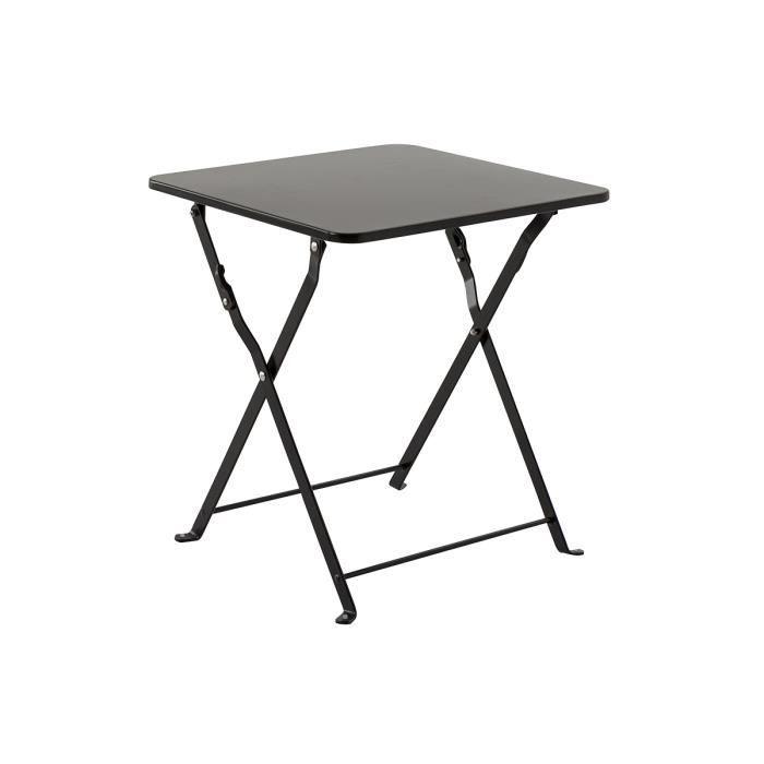 Table d 39 appoint noir en acier 40 x 40 x h 45 cm achat for Table d appoint ordinateur
