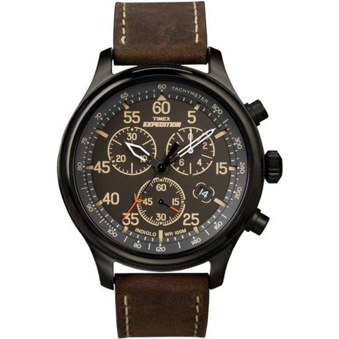 montre homme timex expedition field chronograph achat. Black Bedroom Furniture Sets. Home Design Ideas
