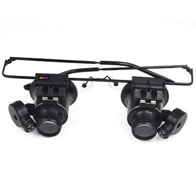 trixes loupe lunette de bijoutier agrandisseur 20x avec lampe led achat vente loupe cdiscount. Black Bedroom Furniture Sets. Home Design Ideas